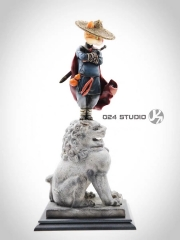 (Sold out)024 Studio Cat Warrior Resin Statue Limited Edition