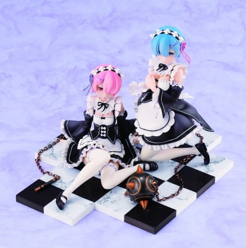 (In Stock)Re:ZERO Starting Life in Another World Set Rem & Ram Figure (Resale)