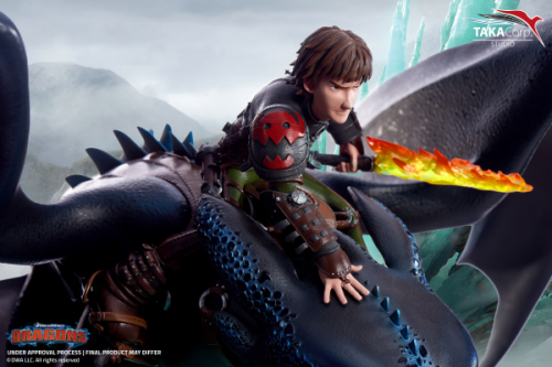 (Pre-order)How to Train a Dragon Hiccup and Toothless Dreamworks Licensed Statue By Taka Corp