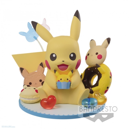 (In Stock)Banpresto Pokemon Sun & Moon - Pokemon Tea Party - Pikachu No Okashi Collection
