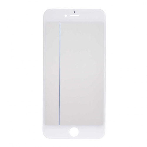 For Apple iPhone 6 Plus Glass Lens With Front Bezel OCA Glue sheet and Polarizer Film - White
