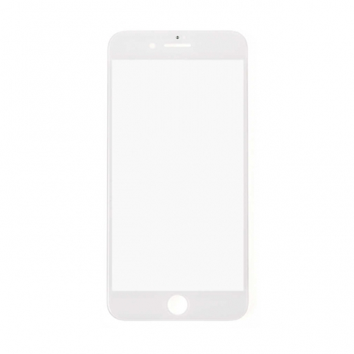 For Apple iPhone 8 Glass Lens With Front Bezel and OCA Glue sheet - White