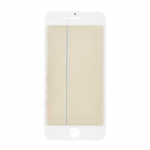 For Apple 7 Glass Lens with Front Bezel OCA Glue Sheet and Polarizer Film - White