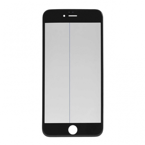 For Apple iPhone 6 Plus Glass Lens With Front Bezel OCA Glue sheet and Polarizer Film - Black