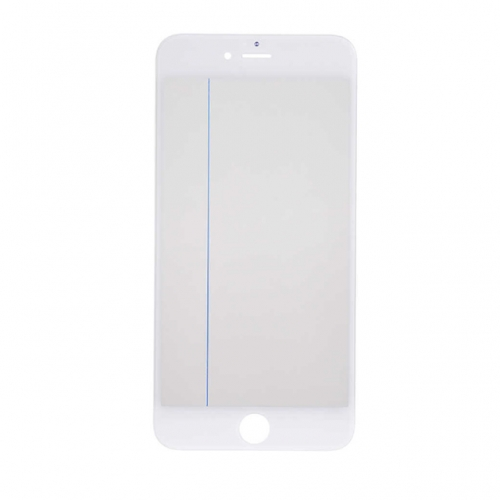 For Apple iPhone 6s Plus Glass Lens With Front Bezel OCA Glue sheet and Polarizer Film - White