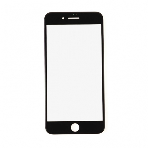 For Apple iPhone 8 Plus Glass Lens With Front Bezel and OCA Glue Sheet - Black