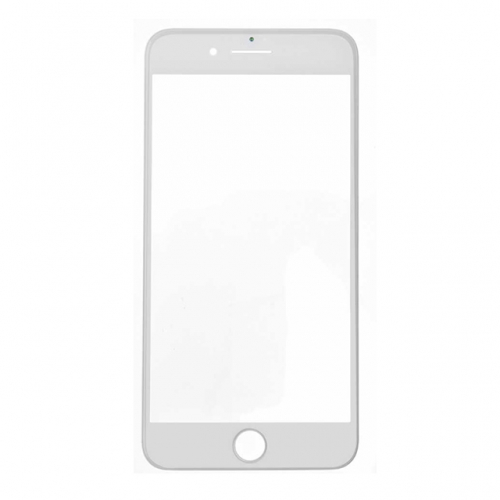For Apple iPhone 7 Plus Glass Lens With Front Bezel and OCA Glue sheet Replacement - White