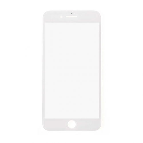 For Apple iPhone 8 Plus Glass Lens With Front Bezel and OCA Glue Sheet - White