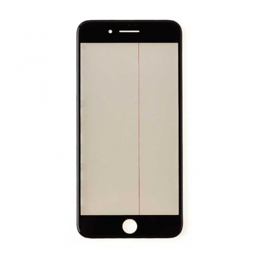 For Apple iPhone 7 Plus Glass Lens With Front Bezel OCA Glue sheet and Polarizer Film - Black