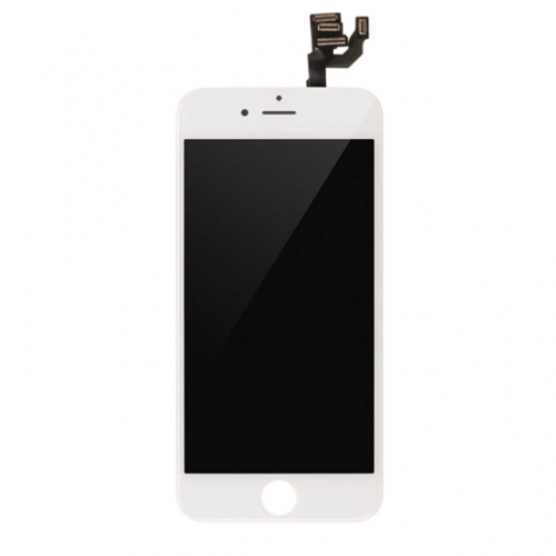 For Apple iPhone 6 LCD Display and Touch Screen Digitizer Assembly With Frame and Components Replacement - White - A+ Grade