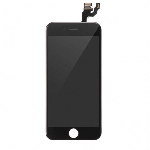 For Apple iPhone 6 LCD Display and Touch Screen Digitizer Assembly With Frame and Components Replacement - Black - A+ Grade