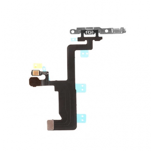 For Apple iPhone 6 Power Switch Flex Cable with Metal Plate - AA Grade