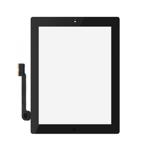 For Apple iPad 3 Touch Screen Digitizer Assembly - Black - S+