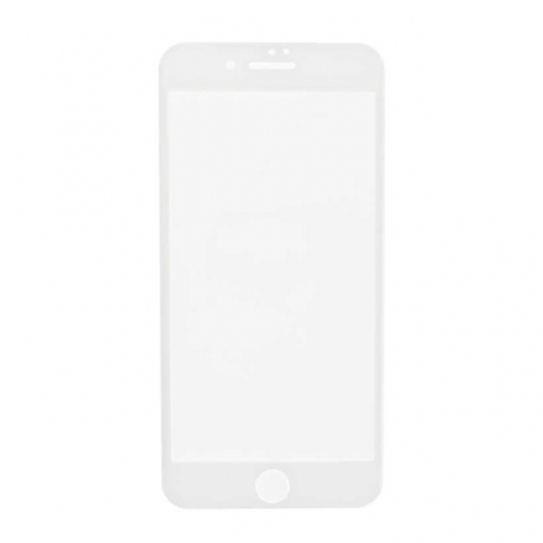 3D Tempered Glass with Wipes for Apple iPhone 7 - White - S+