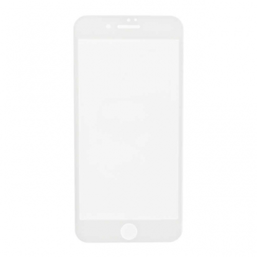 3D Tempered Glass with Wipes for Apple iPhone 7 Plus - White - S+