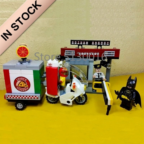 In stock 07057 Batman Movie Scarecrow Special Delivery 204Pcs Building Blocks Compatible with 70910 Bricks DC Christmas Gifts