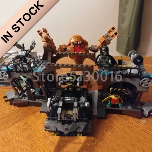 11353 In Stock The Batman Batcave Clayface Invasion 1071Pcs Building Blocks Bricks Toys compatible with 76122 Super Heroes