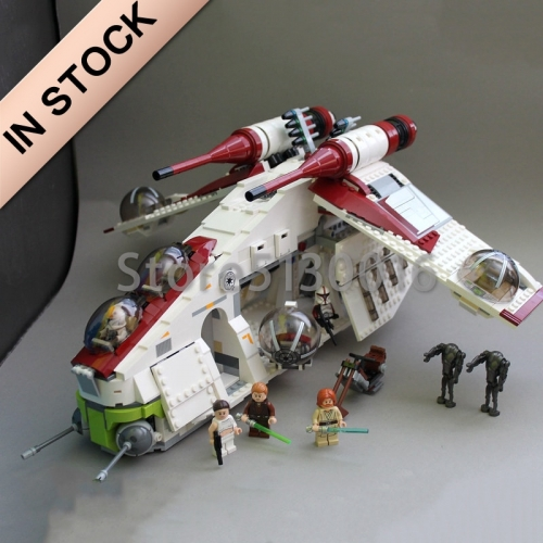 In Stock 05041 Star Wars Series The Republic Gunship 1175pcs Building Blocks Compatible with 75021 Bricks Toys Gifts