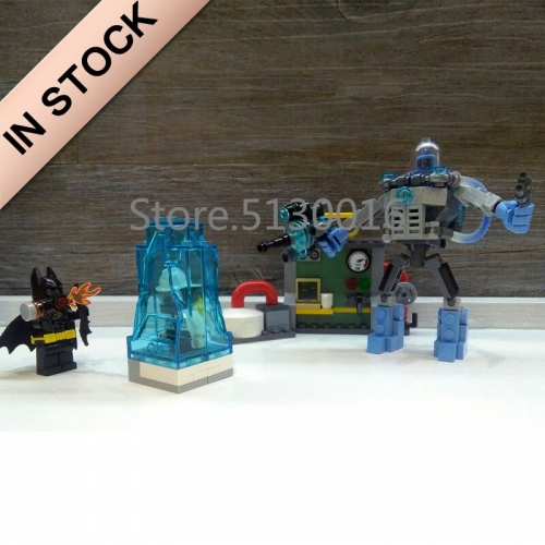 In stock 07049 Batman Movie The Mr. Freeze Ice Attack 201Pcs Building Blocks Compatible with 70901 Bricks DC Christmas Gifts