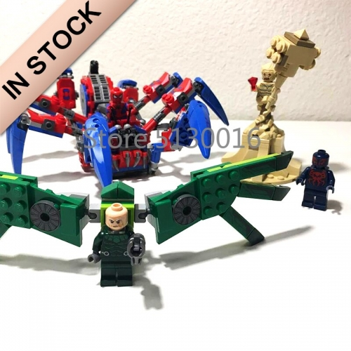 In stock 11187 Avengers 4 Spider-Man's Spider Crawler 418cs Building Blocks Compatible with 76114 Bricks Marvel superheroes