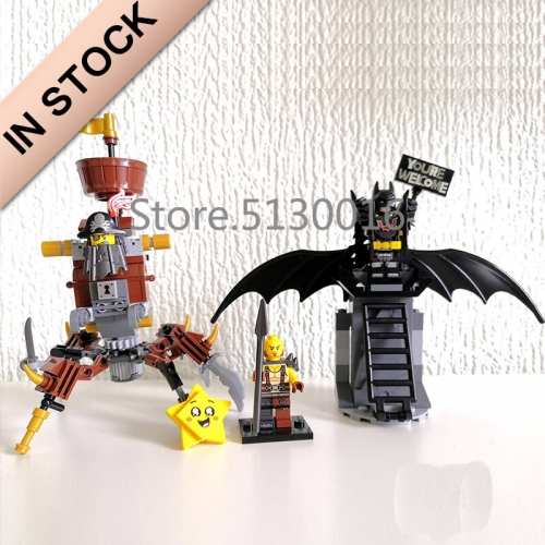 In stock 11239 Battle-Ready Batman and MetalBeard 168Pcs Building Blocks Compatible 70836 45013 Bricks Building Toys DC movie