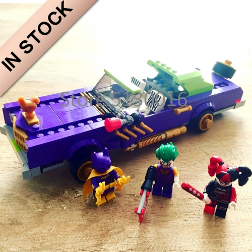 In stock 07046 Batman Movie The Joker Notorious Lowrider Car 433Pcs Building Blocks Compatible with 70906 Bricks DC Christmas