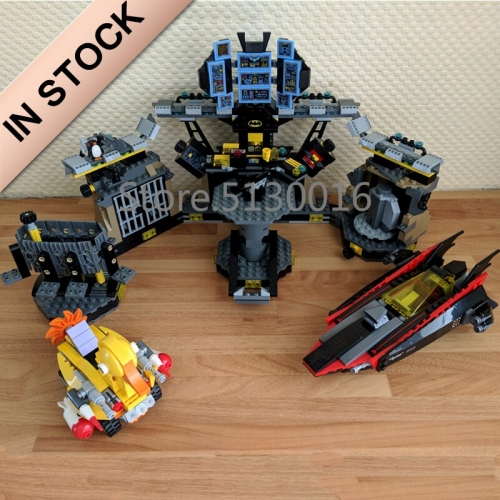 In stock 07052 Batman Movie The Cave Break-in 1047Pcs Building Blocks Compatible with 70909 Bricks DC Christmas Gifts