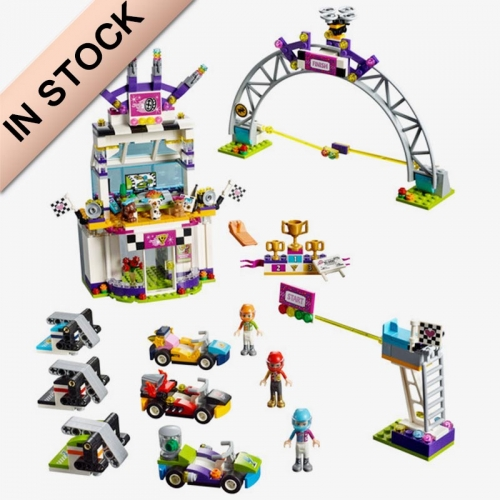 In Stock Girls Friends Series The Big Race Day Building Block Brick 648 PCS 41352 01072 37090 1188A  1188D SY1160  11040