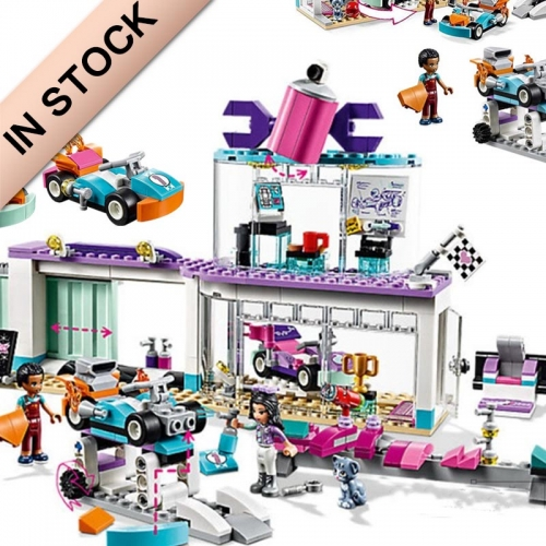 In Stock Girls Friends Series Tuning Shop Building Block Brick 413 PCS 41351  SY1159 11039