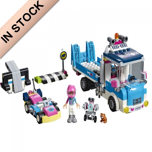 In stock 11036 Friends Series Service & Care Truck 247Pcs Building Blocks  with 41348 Bricks Building Toys  41348  01069  1156  1188B