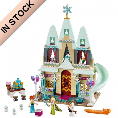 In Stock Girls Friends Series Arendelle Castle Celebration Building Block 477  PCS  41068  01018  79277  SY371  3017