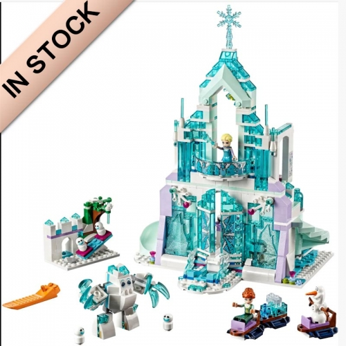 In Stock Girls Friends Series Elsa's Magical Ice Palace Building Block Brick  701 PCS  41148  43172 70217  25002  37016  SY868  10664  3016   97019