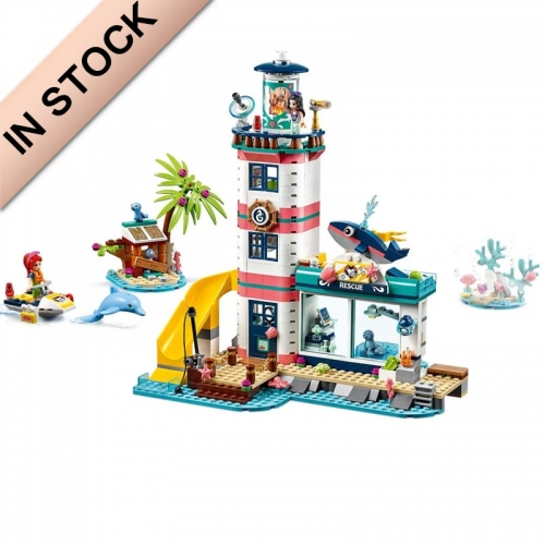 In Stock Girls Friends Series Lighthouse with Floodlight Building Block Brick 602 PCS  41380  SY6185  11372  J71002  3026