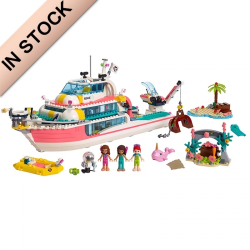 41381 86068 In Stock Friends Series Rescue Boat Building Blocks 900+Pcs Heartlake Toy Compatible Ship Children Girl Birthday  11373