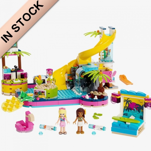 In Stock Girls Friends Series  Andrea's Pool Party Building Block Brick 468 PCS  41374  3027