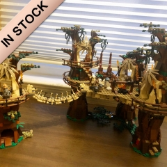In Stock 05047 Ewok Village Star Wars USC 1990pcs Series Model Building Blocks 81049 Toys 10236 gift