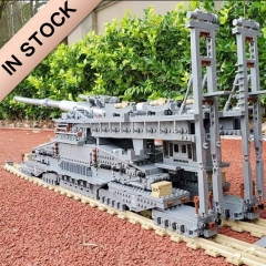 "In Stocks German 80cm K[E] Railway ""Dora"" 3846pcs Building Blocks Brick KY10005 Children Gift Cannon E Railway GUN WW2"