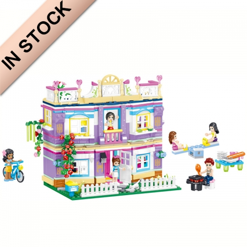 In Stock Girls Friends Series Millie's Prinncess Castle Villa Building Block Brick 775 PCS  QL1128