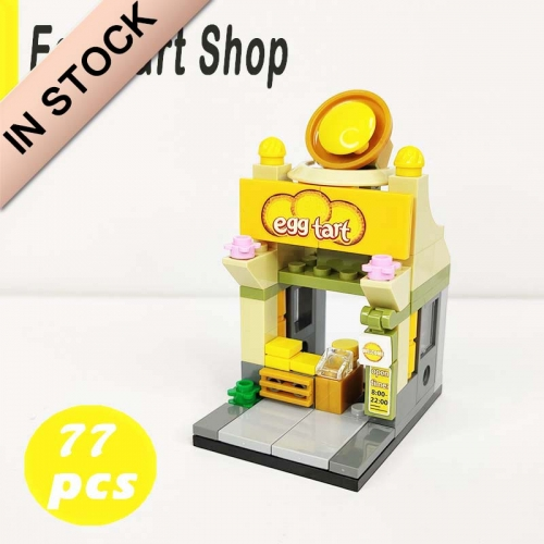 In Stock Sembo Block:Eggtart Building Block Brick 77 PCS   601010