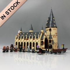 In Stock Harry Porter 878PCS The Hogwarts Great Hall Building Blocks 16052 Bricks 11007 75954 39144 1205 Toys Gifts 180052