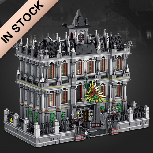 In Stock 613002 Collector's Edition Building Series Crazy Asylum High Difficulty Lunatic Hospital 7527Pcs Building Blocks