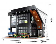 IN Stock 86005 2803pcs Modern Cafe Modular 2020 Building Blocks Bricks Toys MOC-45635 Figures