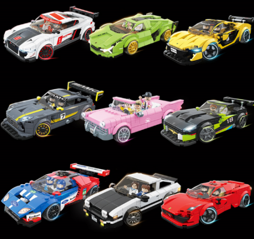 In stock100130 100131 100134 100135 100137 100138 100140 100141 100142 City Creator Racing car Building Block Bricks Toy 10258 DIY Toys Children Gifts