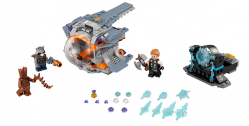In Stock Thor's Weapon Quest 223 PCS Building Block Brick moc toys gifts 76102 10835 07105