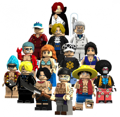 In Stock one pecie  Building Block Brick moc toys gifts   Luffy, Ace, White Beard, Nami, Frankie, Brooke, Sabo  Minifigures Set of 14