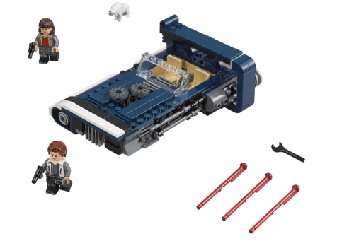 IN Stock 75209 10897 Han Solo's Landspeeder  Star War Building Blocks Bricks Toys Moc Model Figures 05007