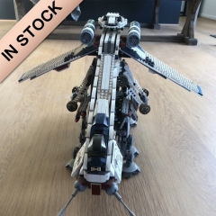 In Stock 05053 Republic Dropship with AT-OT Walker 1758pcs Star Wars 10195 Model Building Blocks Bricks Toys 81055