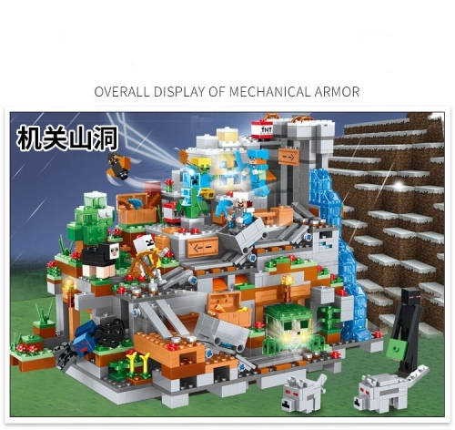 In Stock The Mountain Cave 21137 1315pcs My World Minecraft Model Building Blocks 10019 Toys 81085 Bricks