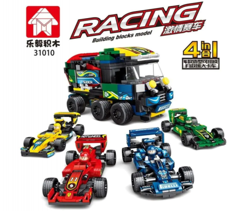 In stock  City Creator Racing car Building Block Bricks Toy 10258 DIY Toys Children Gifts 21046 21047