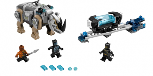 In stock 07100 Rhino Face-Off by the Mine 229Pcs Building Blocks Compatible 76107 Bricks Super Heroes Avengers